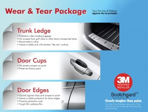 Auto paint protection products for trunk ledges, door cups and door edges